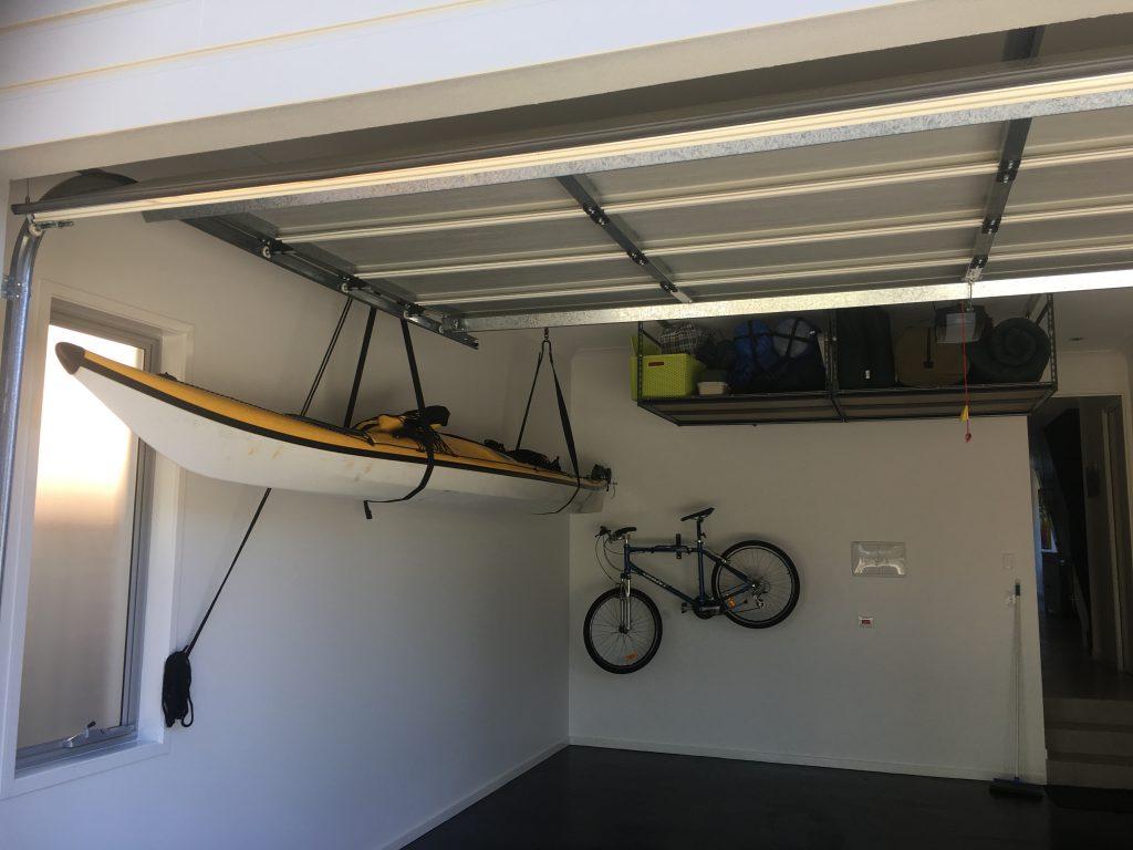 Garage Storage Setup : Art install aus kayak storage hanging system